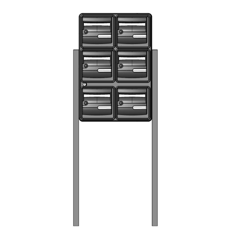 ensemble de 6 boites aux lettres b6 corail tudi pour. Black Bedroom Furniture Sets. Home Design Ideas