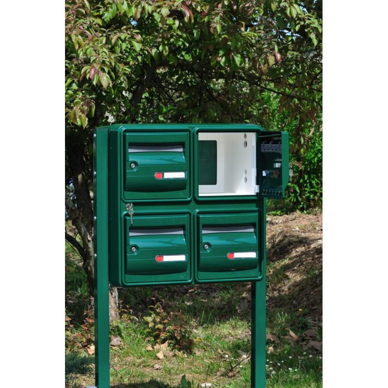 ensemble de 4 boites aux lettres b4 corail ext rieur. Black Bedroom Furniture Sets. Home Design Ideas