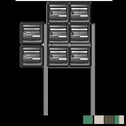 Bloc 8 boites aux lettres extérieures avec pieds de fixation