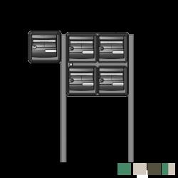 Bloc 5 boites aux lettres extérieur avec pieds de fixation