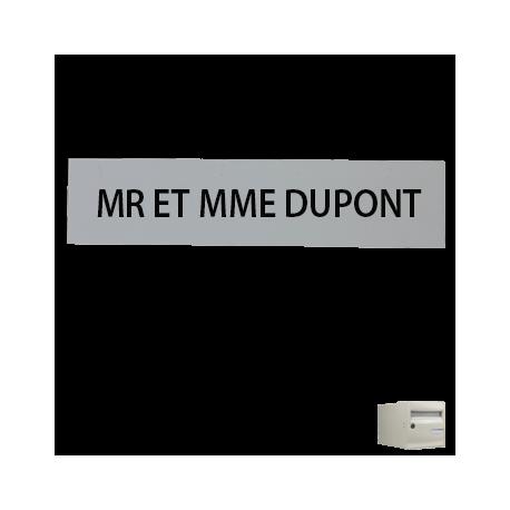 Étiquette gravée Boite à lettres CORAIL Individuelle H21 x L110 x P1.5mm