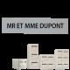 Étiquette gravée Boite aux lettres Collectives B1 a B6 : H23 x L99 x P1.5mm