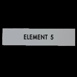 Étiquette gravée Boite aux lettres Intérieures H99 x L24 x P0.8mm
