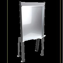 Panneau d'affichage extérieur avec pieds ABRICO 9 Feuilles A4