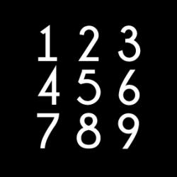 Adhésif pour Numérotation