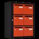 Bloc 6 Boites aux lettres Intérieures Noir et Orange - Collection Eté 2017