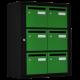 Bloc 6 Boites aux lettres Intérieures Noir et Vert - Collection Eté 2017