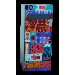 Boîte à colis et à lettres chaman street art
