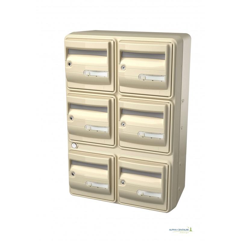 bloc 8 boites aux lettres ext rieur collectif huit. Black Bedroom Furniture Sets. Home Design Ideas