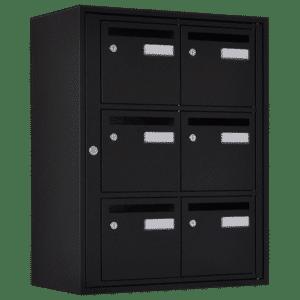 Bloc6 boite aux lettres noir acier