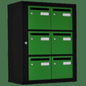 boite aux lettres couleur noire mate verte