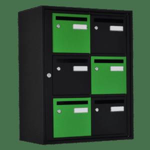 boite aux lettres couleur noire mate verte quadrilage